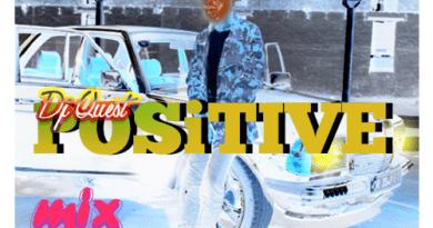 "DJ Quest Unlocks New DJ Mix and captioned it ""Positive Mix""."