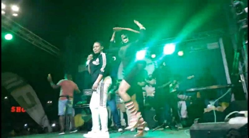Video: Joyce Blessing and Afia Schwarzenegger Wow Patrons with  'I Swerve You' at Okay FM 8YRS Anniversary Concert