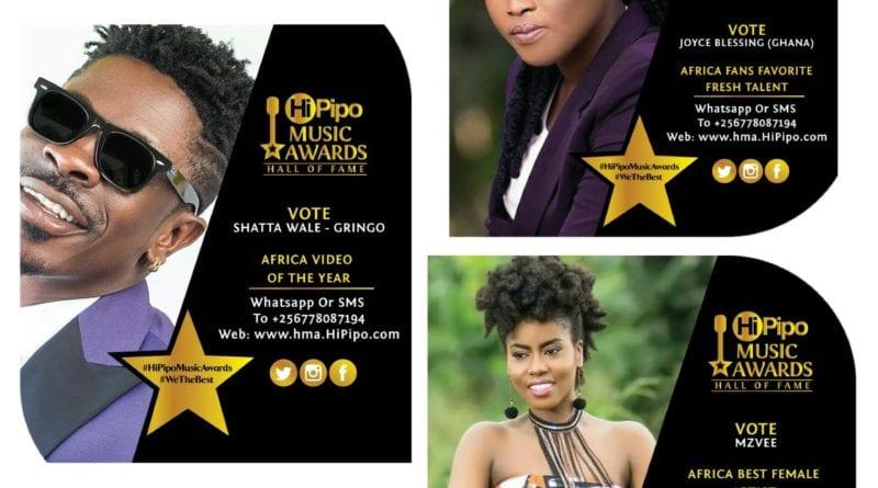 Shattawale, Joyce Blessing & MzVee Nominated For 2019 HiPipo Music Awards  in Uganda