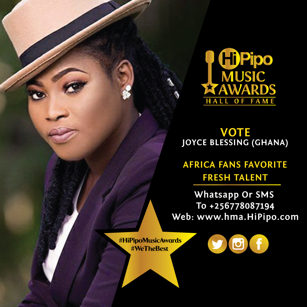 Shattawale, Joyce Blessing & MzVee Nominated For 2019 HiPipo Music