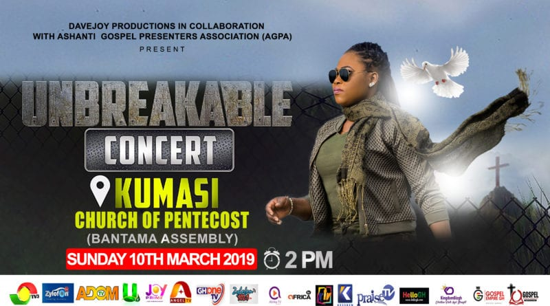Joyce Blessing to Storm Kumasi with Maiden Unbreakable Concert on 10th March