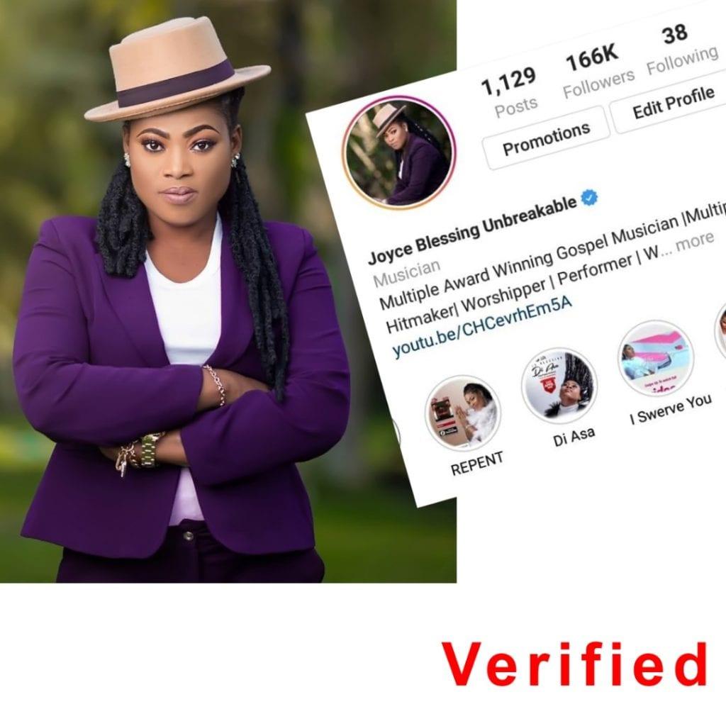 Gospel Singer Joyce Blessing Verified On Instagram