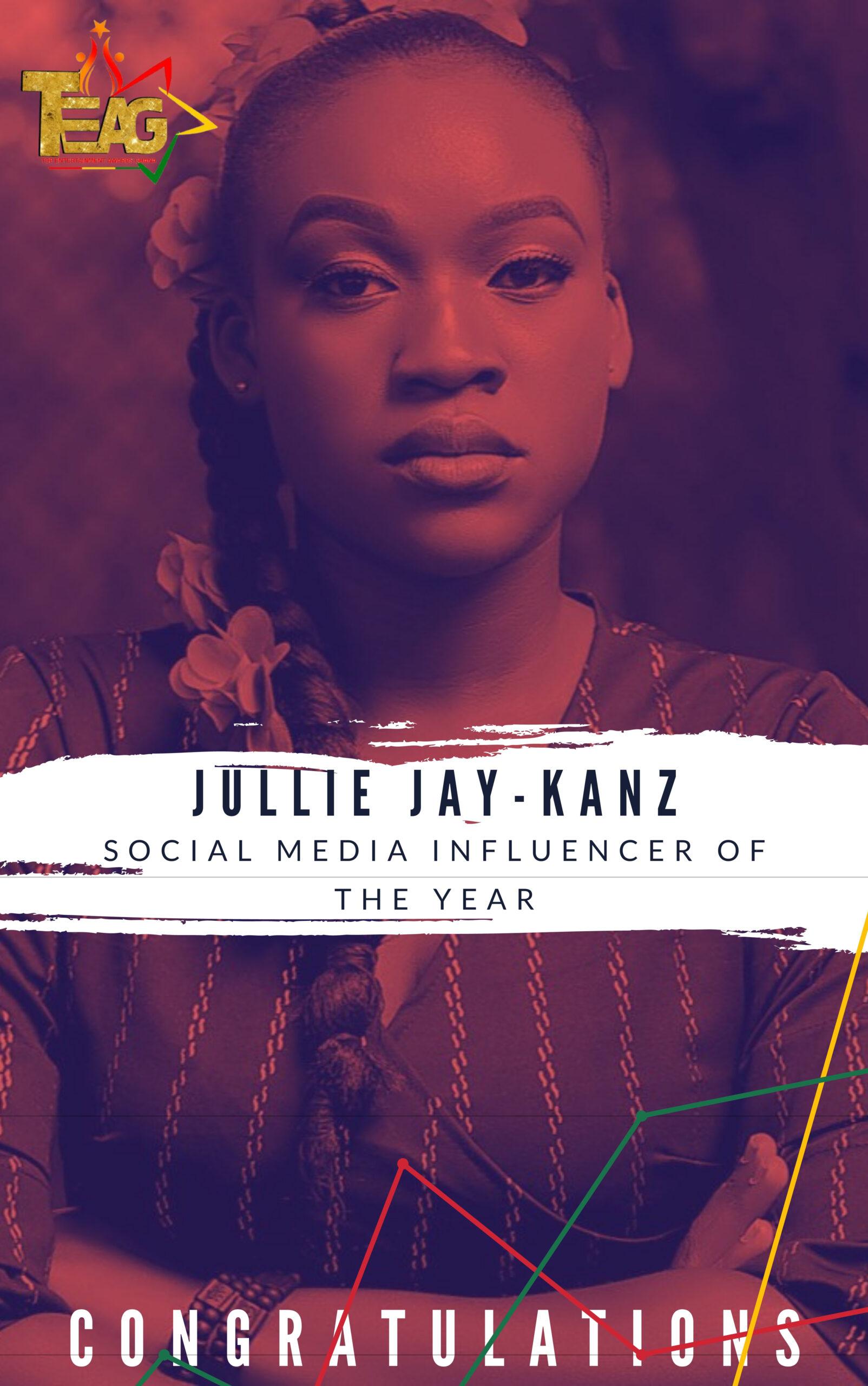 Jullie Jay-Kanz Wins Social Media Influencer of the year